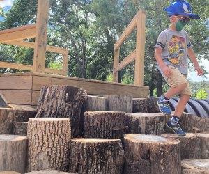 Houston Arboretum Playscape Stump Scramble.