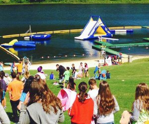 Campers enjoy a host of water sports at The Knox School Summer Adventures camp.