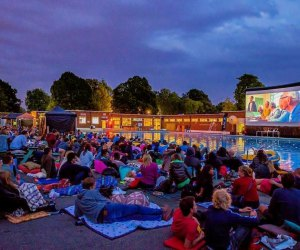 Movie under the Moon. Photo courtesy of Sugar Land Town Square