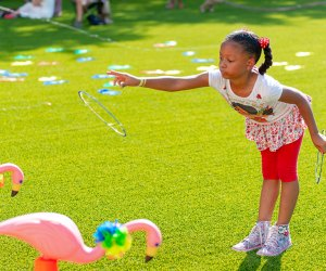 Hang out at the Summer Family Campsite Adventure at Sugar Land Town Square. Photo courtesy of the event