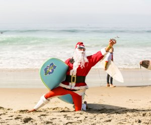 Surfing Santa Competition. Photo by Pacific Dream Photography courtesy of Surfers Healing