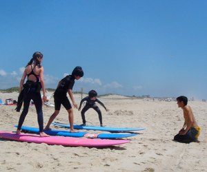 Surfing 100 things to do with kids on Long Island