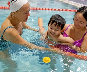 Swim lessons start as young as age 7 months at Commonpoint Queens, which uses the Red Cross curriculum for its swimming lessons. Photo courtesy of the venue