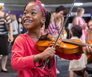 Symphony Storytime brings out the inner musician in all children. Photo courtesy of Orlando Philharmonic