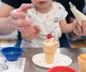 Taking a class together is a sweet way to bond with your mini-me. Photo courtesy of Taste Buds Kitchen