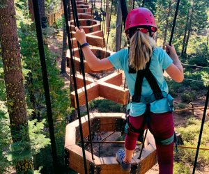 One of the best vacation adventures ever awaits in Lake Tahoe. Photo courtesy of Tree Top Adventure
