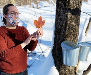 Check out the maple sugaring demonstrations at the Tenafly Nature Center. Photo courtesy of the Center