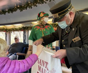 The North Pole Limited Christmas Train, out of Chattanooga, offers a joyful hour of holiday magic for all families. Photo courtesy of Tennessee Valley Railroad Museum