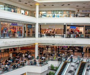 Interior view of The Galleria in White Plains