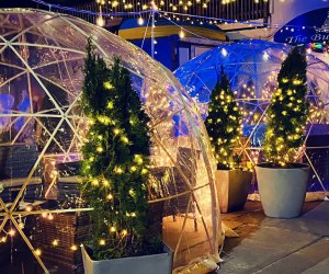 The igloos at Point Lookout's Buoy Bar allow between 4 and 10 diners at a time.