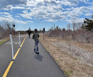 Walk, ride, scoot, or cycle along the Ocean County Greenway Trail to explore 14 miles of South Shore beauty.