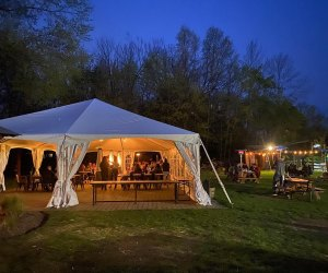 Outdoor dining tent at Stirling Hotel