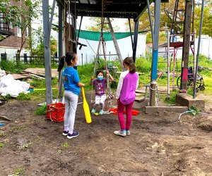 Kids hang out at The Yard on Governors Island
