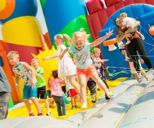 Preschoolers can bounce the day away at The Big Bounce America. Photo courtesy of The Big Bounce America