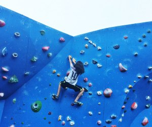 Let kids climb sky high when The Cliffs at Dumbo reopens for its seasonal run this weekend. Photo courtesy of the venue