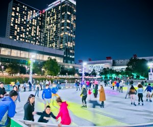Spend your Christmas Day skating circles around each other at The Ice at Discovery Green. Photo courtesy of Morris Malakoff, The CKP Group.