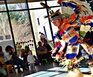 The Shinnecock Nation will put on an interactive performance influenced by thoer traditional dances.  Photo courtesy of the Children's Museum of the East End