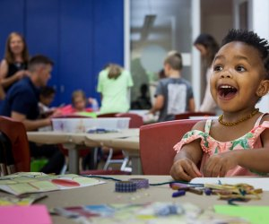 At Family Festivals at the Woodruff Arts Center Families can enjoy activities including interactive storytimes, art making workshops, drop in acting classes, music-making fun and more! Photo courtesy of the center