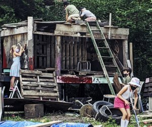 The Yard, NYC's only adventure playground, opens to the public this weekend. Photo courtesy of Play-Ground NYC
