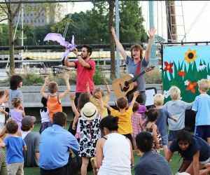 The Pop Ups bring summertime music, dancing, and fun to Hudson RiverKids. Photo courtesy of the event
