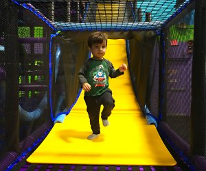 Bounce, slide and jump at Xplore. Photo by Thien August