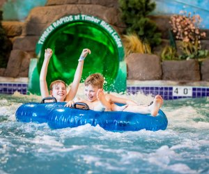 Timber Ridge Lodge and Water Park offers day passes to its water park for a spring break daycation! Photo courtesy of Timber Ridge Lodge