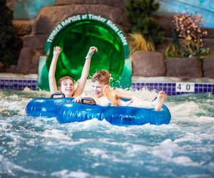 Kids water tubing Timber Ridge Lodge and Water Park Where To Go Swimming in Chicago With Kids this Winter