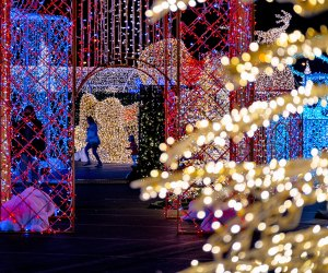 New for 2021, the Tinseltown Holiday Spectacular will feature festive and brightly-colored light displays powered by over a million bulbs.