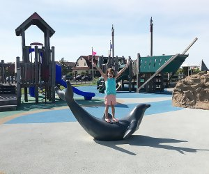 Tony's Place Playground, at Seven Presidents Park in Long Branch, offers inclusive fun for all kids. Photo by Rose Gordon Sala