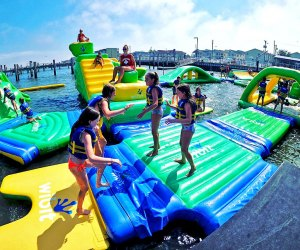Totally Tubular Aqua Park offers 5,000 square feet of wet-and-wild fun in Ocean City.