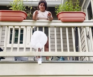 Build a toy parachute for a fun craft, science project with the kids.
