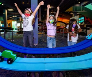 The race is on at the Discovery Cube. Photo by Joshua Sudock courtesy of Discovery Cube