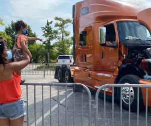 See a garbage truck, cement mixer, and more at DuPage Children's Museum. Photo courtesy of the museum
