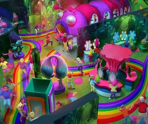 A rendering of DreamWorks Trolls The Experience opening this fall.  Rendering courtesy of Feld Entertainment Inc.