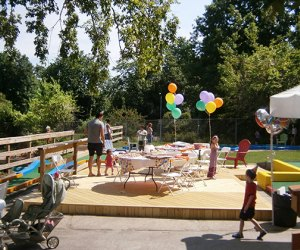 The party area at Turtle Cove is a special place for birthday parties in the Bronx.