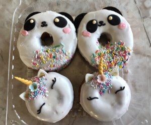 Unicorn doughnuts have extra magic.