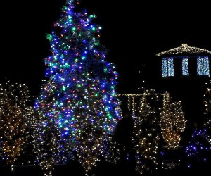 The Grand Holiday Illumination at Untermyer Gardens takes place from December 12 through January 3, 2021, and is free, outdoors, socially distanced, and requires face masks. Photo courtesy of the Gardens