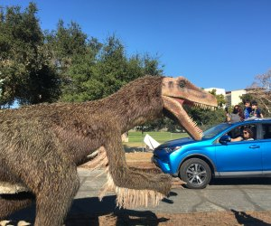 Jurassic Quest Drive-thru, photo by Mommy Poppins