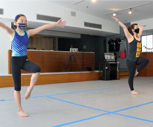 Safety measures include mask requirements and careful spacing of kids at Urbanity. Photo courtesy of Urbanity Dance