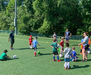 Take your skills to the next level at a summer soccer camp. Photo courtesy of Villanova Soccer Camp