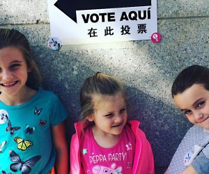 Bring the kids to vote with you on Election Day. Photo by Kate Lewis Andrews