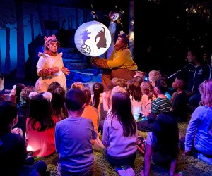 Wake Up, Brother Bear! is a highly interactive show that will take you and your cubs on a fun-filled journey through the four seasons with a playful pair of bears. Photo courtesy of the Chicago Children's Theater