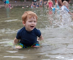 Walden Pond is open for splashing and swimming. Photo by Tim Sackton/CC by-SA 2.0