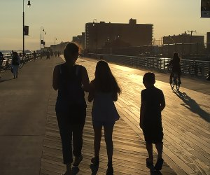 What's better than an after dinner family walk along the boardwalk at Long Beach?