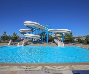 Wantaugh Park has a pair of water slides