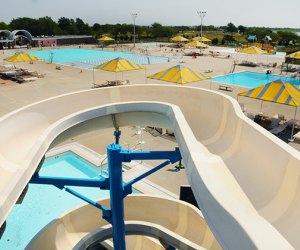 Water slide at Wantagh Park pool