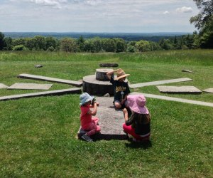 Solstice Stones mark the grassy summit of Holt Hill in Ward Reservation.