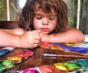 Kids can while away hours of a day with a set of watercolors and a stack of new paper for painting.