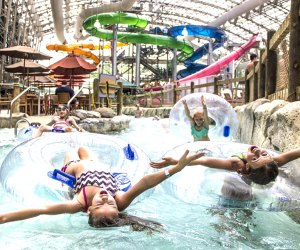 Chill out in the lazy river at the Pump House indoor water park in Vermont.