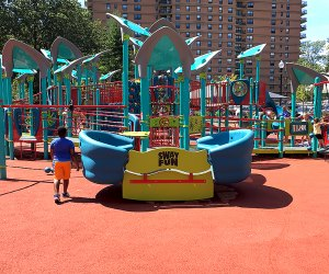 The accessible playground at Watsessing Park is a dream-come-true for children of all abilities. Photo by Margaret Hargrove